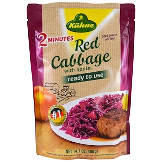 Kuhne, Ready to Use, Red Cabbage with Apples, 14.1 oz (400 g)
