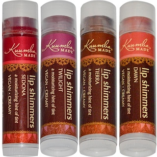 Kuumba Made, Lip Shimmers, 4 Pack, .15 oz (4.25 g) Each