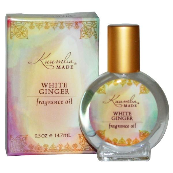 Kuumba Made, フレグランスオイル、ホワイトジンジャー、0.5オンス(14.7 ml) (Discontinued Item)