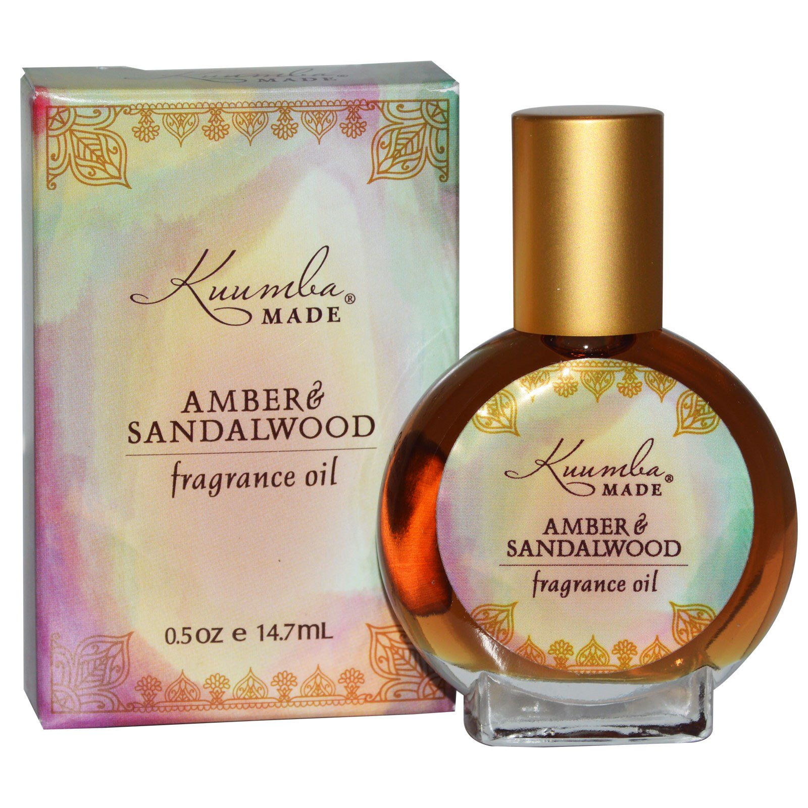 Kuumba Made, Ароматическое масло, амбра и сандал, 0.5 унций (14.7 мл)