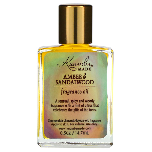 Fragrance Oil, Amber & Sandalwood, 0.5 oz (14.7 ml)