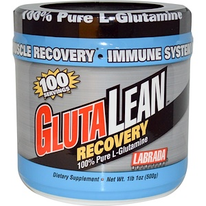 Лабрада нутришн, GlutaLean, Recovery, 100% Pure L-Glutamine, 1 lb 1 oz (500 g) отзывы