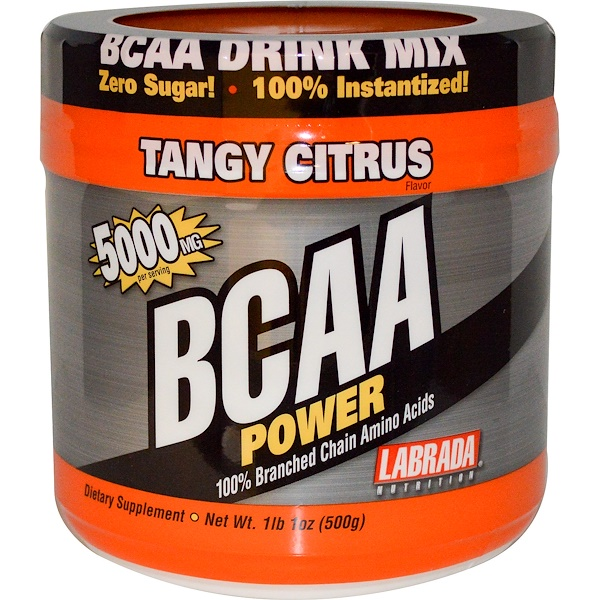Labrada Nutrition, BCAA Power, терпкий цитрус, 1 фунт 1 унция (500 г)  (Discontinued Item)