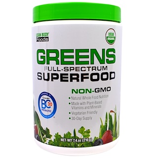 Labrada Nutrition, Lean Body Foods, Greens Full-Spectrum Superfood, 7.4 oz (210 g)