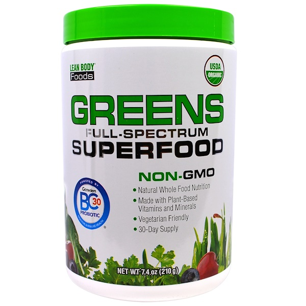 Labrada Nutrition, Lean Body Foods, Greens Full-Spectrum Superfood, 7.4 oz (210 g) (Discontinued Item)