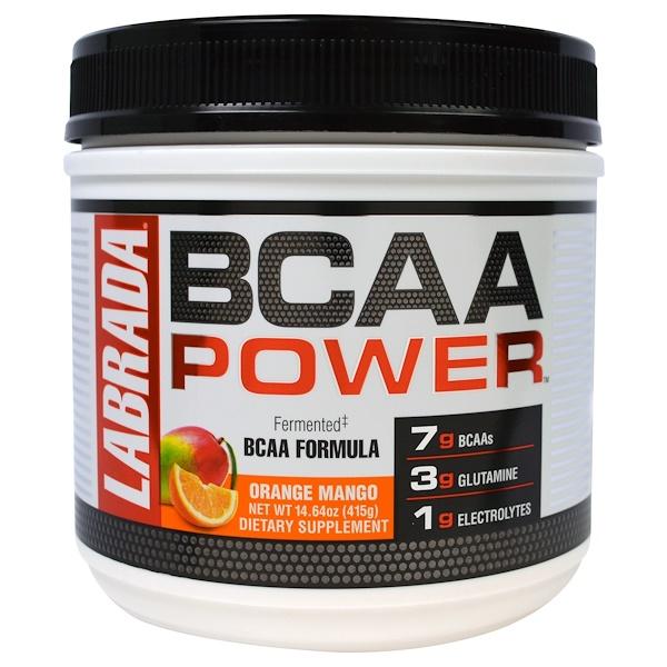 Labrada Nutrition, BCAA Power, Orange Mango, 14.64 oz (415 g) (Discontinued Item)