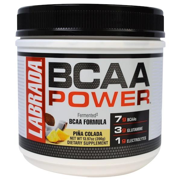 Labrada Nutrition, BCAA Power, Pina Colada, 13.97 oz (396 g) (Discontinued Item)