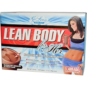 Лабрада нутришн, Lean Body for Her, Hi-Protein Meal Replacement Shake, Chocolate Ice Cream, 20 Packets, 1.7 oz (49 g) Each отзывы