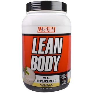 Labrada Nutrition, Lean Body, Meal Replacement Shake, Vanilla, 2.47 lbs (1120 g)