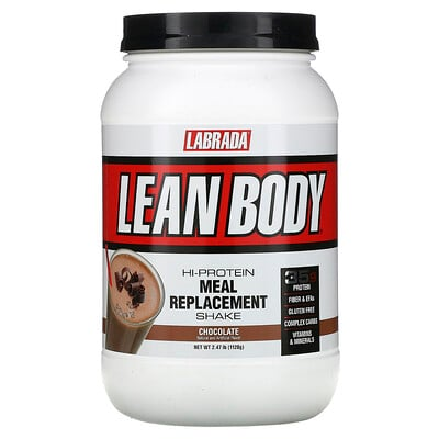 Labrada Nutrition Lean Body, Hi-Protein Meal Replacement Shake, Chocolate, 2.47 lbs (1120 g)