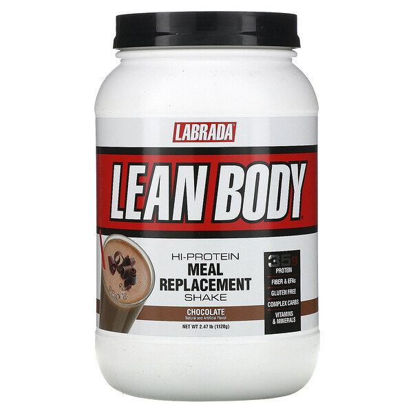 Lean Body, Hi-Protein Meal Replacement Shake, Chocolate, 2.47 lbs (1120 g)