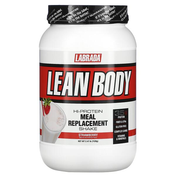 Lean Body, Shake para Substituição de uma Refeição, Morango, 2,47 lbs (1120 g)