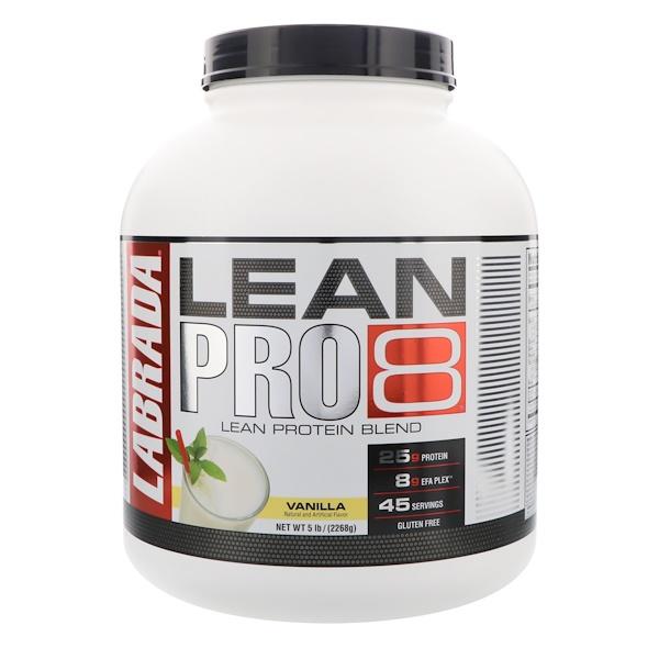 Lean Pro8, Vanilla, 5 lbs (2268 g)