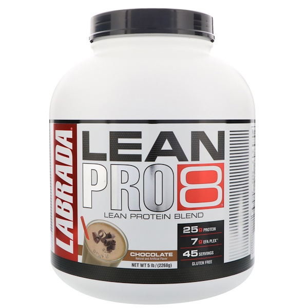 Labrada Nutrition, Lean Pro8, Chocolate, 5 lbs (2268 g) (Discontinued Item)