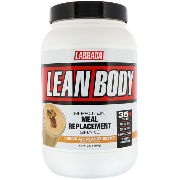 Lean Body, Hi-Protein Meal Replacement Shake, Chocolate Peanut Butter, 2.47 lbs (1120 g)