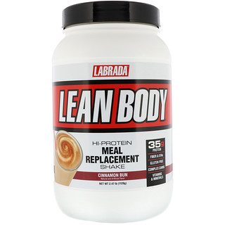 Labrada Nutrition, Lean Body, Hi-Protein Meal Replacement Shake, Cinnamon Bun, 2.47 lbs (1120 g)