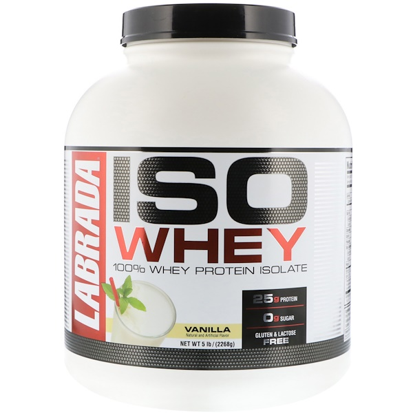 Labrada Nutrition, ISO Whey, 100% Whey Protein Isolate, Vanilla, 5 lbs (2268 g) (Discontinued Item)