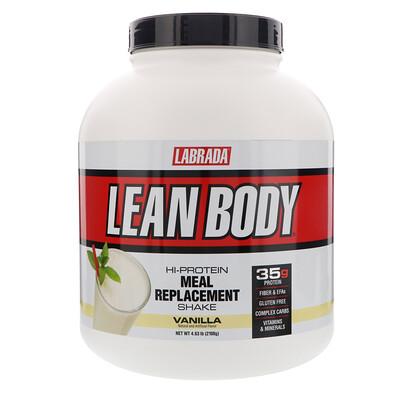 Купить Labrada Nutrition Lean Body, высокопротеиновый котейль, заменитель пищи, ваниль, 4, 63 фунта (2100 г)