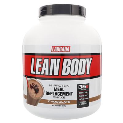 Купить Labrada Nutrition Lean Body, высокопротеиновый коктейль, заменитель пищи, шоколад, 4, 63 фунта (2100 г)