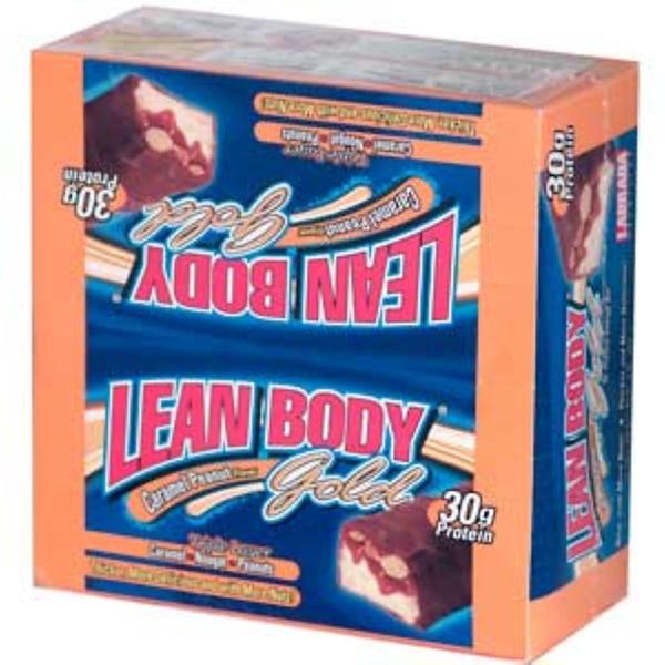 Labrada Nutrition, Lean Body Gold, Caramel Peanut Flavor, 12 Bars, 2.98 oz (82 g) Each (Discontinued Item)