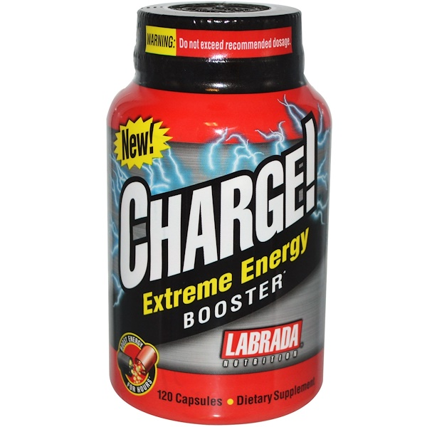 Labrada Nutrition, Charge!, Extreme Energy Booster, 120 Capsules (Discontinued Item)
