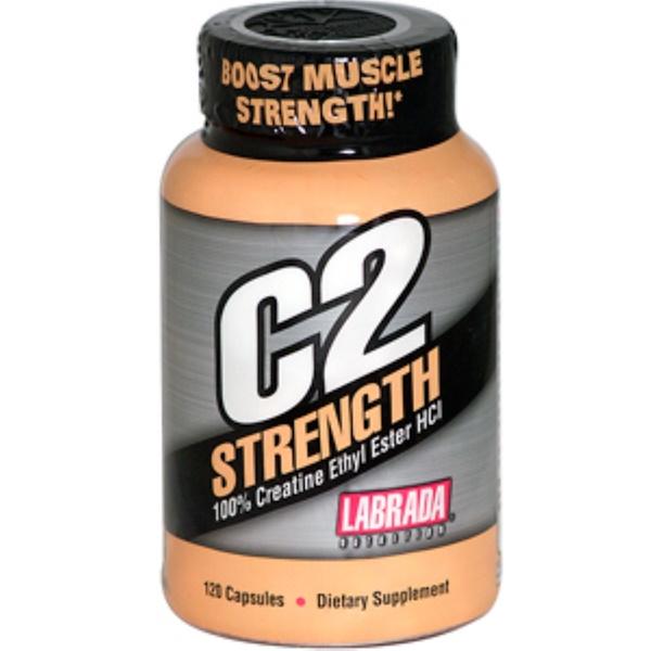 Labrada Nutrition, C2 Strength, 100% Creatine Ethyl Ester HCI, 120 Capsules (Discontinued Item)