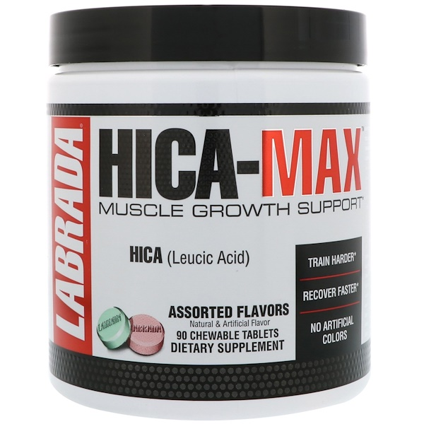 Labrada Nutrition, HICA-Max, Muscle Growth Support, Assorted Flavors, 90 Chewable Tablets