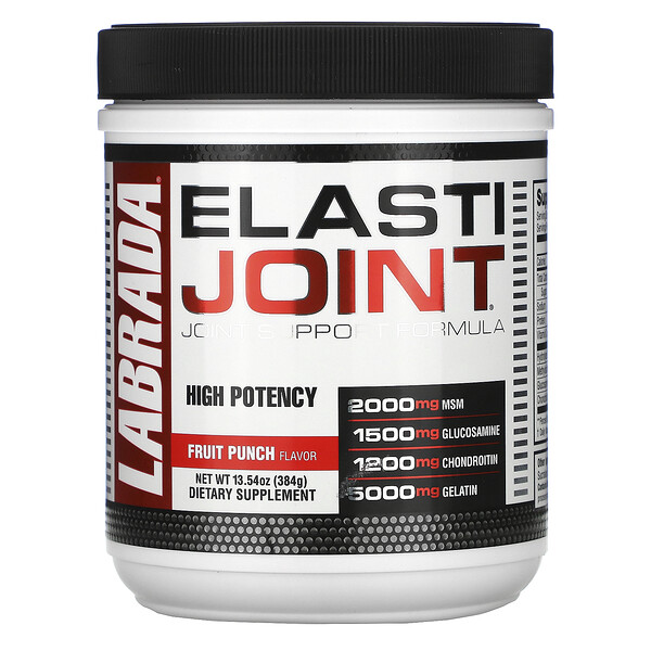 Labrada Nutrition, ElastiJoint, Joint Support Formula, Fruit Punch Flavor, 13.54 oz (384 g)