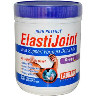 Labrada Nutrition, ElastiJoint, Joint Support Formula Drink Mix, Grape Flavor, 12.35 oz (350 g)