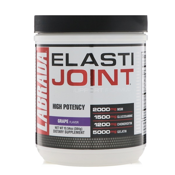 Labrada Nutrition, ElastiJoint, Joint Support Formula, Grape Flavor, 13.54 oz (384 g)
