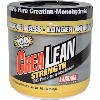 Labrada Nutrition, CreaLean Strength, 100% Pure Creatine Monohydrate, 1 lb 1 oz (500 g)
