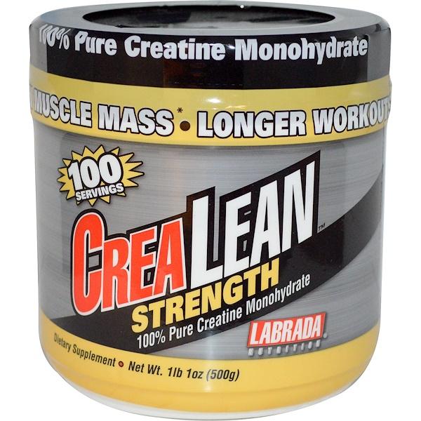 Labrada Nutrition, CreaLean Strength, 100% Pure Creatine Monohydrate, 1 lb 1 oz (500 g) (Discontinued Item)