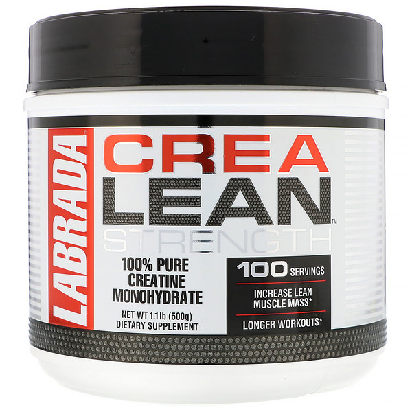 Labrada Nutrition, CreaLean Strength, 100% Pure Creatine Monohydrate, 1 lb 1 oz (500 g) (Discontinued Item)