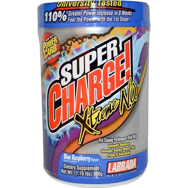 Labrada Nutrition, Super Charge! Xtreme N.O., со вкусом ежевики, 1,76 фунта (800 г)