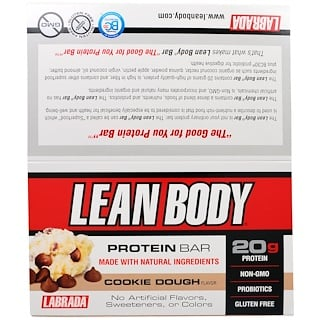 Labrada Nutrition, Lean Body Protein Bar, Cookie Dough Flavor, 12 Bars, 2.54 oz (72 g) Each