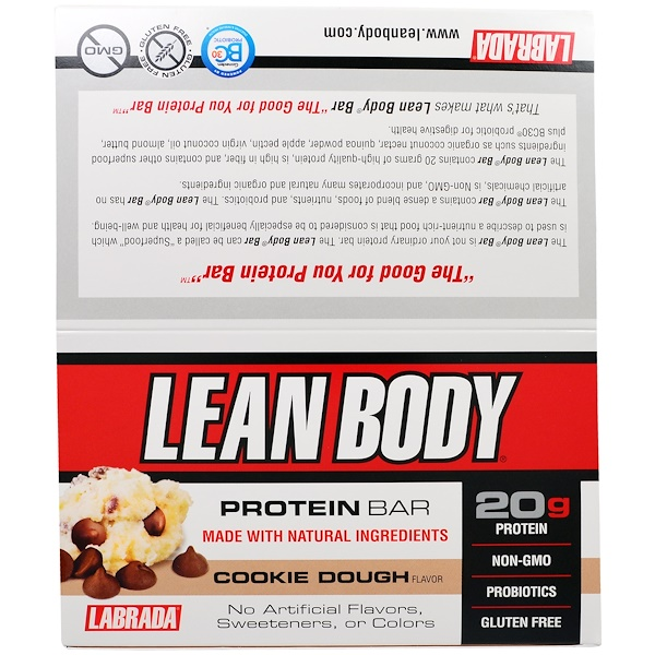 Labrada Nutrition, 瘦身蛋白棒,曲奇餅風味,12塊,2、54盎司(72克)每塊