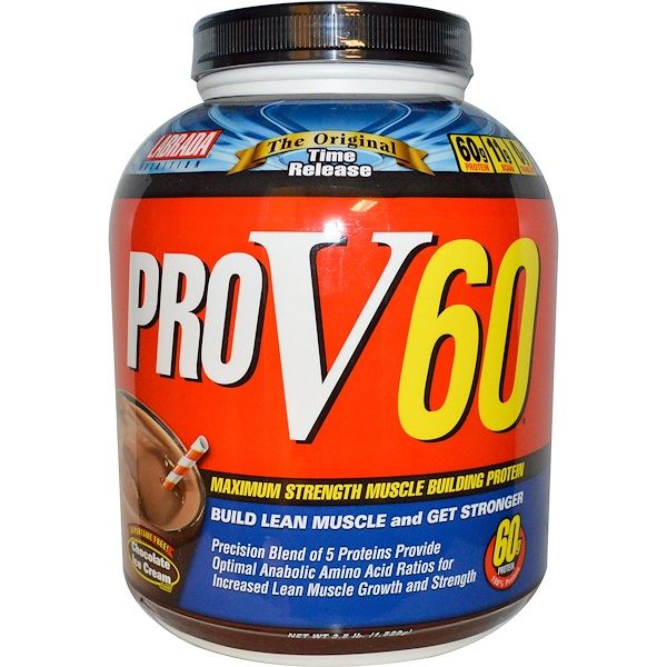 Labrada Nutrition, ProV60, Maximum Strength Muscle Building Protein, Chocolate Ice Cream Flavor, 3.5 lb (1,589 g) (Discontinued Item)