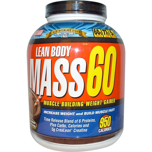 Labrada Nutrition, Lean Body Mass 60, Muscle Building Weight Gainer, Chocolate Ice Cream Flavor, 6 lbs (2724 g) (Discontinued Item)