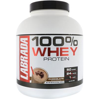 Купить Labrada Nutrition 100% сывороточный протеин, со вкусом шоколада, 1875г (4, 13фунта)