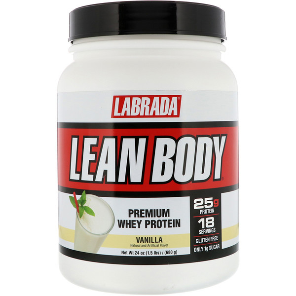 Labrada Nutrition, Lean Body, Premium Whey Protein, Vanilla, 1.5 lbs (680 g) (Discontinued Item)