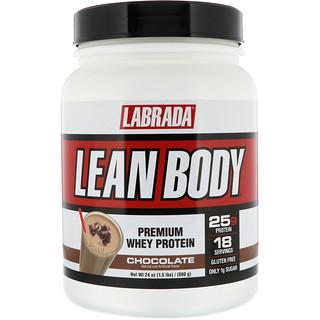 Labrada Nutrition, Lean Body, Premium Whey Protein, Chocolate, 1.5 lb (680 g)