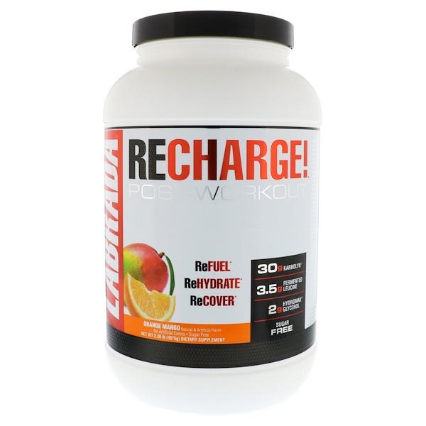 Labrada Nutrition, ReCharge鍛煉後,橙子芒果,2、36磅(1075克)