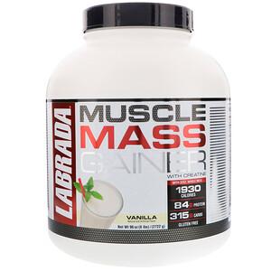Лабрада нутришн, Muscle Mass Gainer with Creatine, Vanilla, 6 lbs (2722 g) отзывы