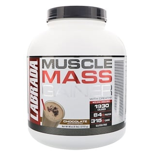 Labrada Nutrition, Muscle Mass Gainer with Creatine, Chocolate, 6 lbs (2722 g)