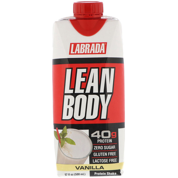 Labrada Nutrition, Lean Body, Ready-to-Drink Protein Shake, Vanilla, 17 fl oz (500 ml) (Discontinued Item)
