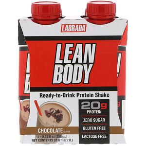 Лабрада нутришн, Lean Body, Ready-to-Drink Protein Shake, Chocolate, 4 Shakes, 8.45 fl oz (250 ml) Each отзывы