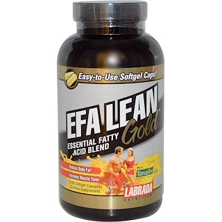 Labrada Nutrition, EFA Lean Gold, Essential Fatty Acid Blend, 180 Softgel Capsules