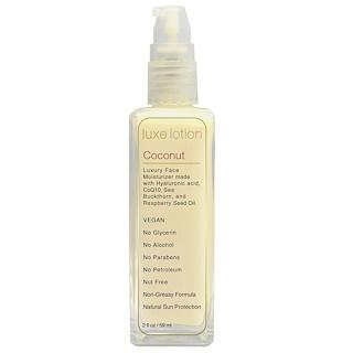 LuxeBeauty, Luxe Lotion, Luxury Face, Coconut, 2 fl oz (59 ml)