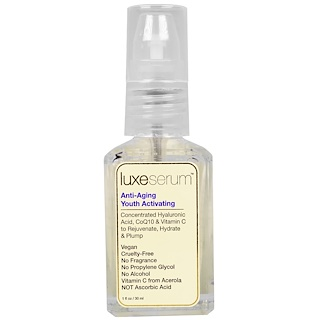 LuxeBeauty, Luxe Serum, Anti-Aging Youth Activating, 1 fl oz (30 ml)
