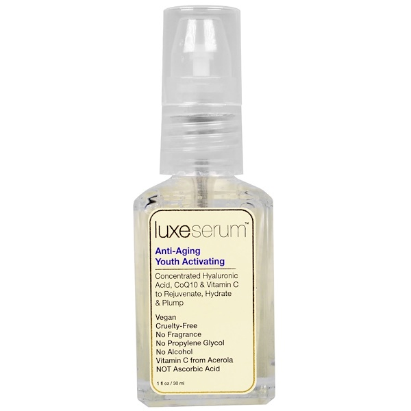 Luxe Beauty, Luxe Serum, Anti-Aging Youth Activating, 1 fl oz (30 ml) (Discontinued Item)